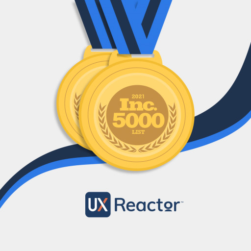 UXReactor Recognized by Inc. 5000 for Second Year in a Row