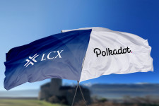 LCX and Polkadot Flags - Liechtenstein Castle