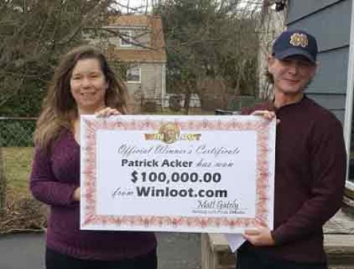 Months Long Search Ends, Woodland Park, NJ Man $100,000 Richer Thanks to Winloot.com