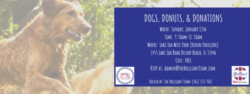 The Brilliant Team is Thrilled to Host 'Dogs, Donuts & Donations' Event