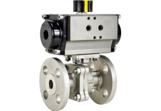 Air Actuated Flanged Ball Valve