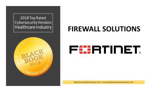 Fortinet Ranks Top in Enterprise Firewall Network Solutions, 2018 Black Book Market Research User Survey