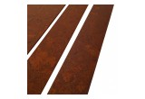 Henna Colored Wood Strip Floor Tiles