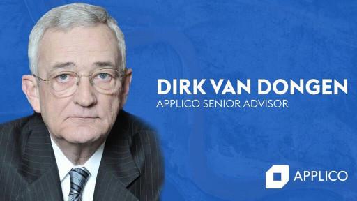 Dirk Van Dongen Joins Applico as Senior Advisor