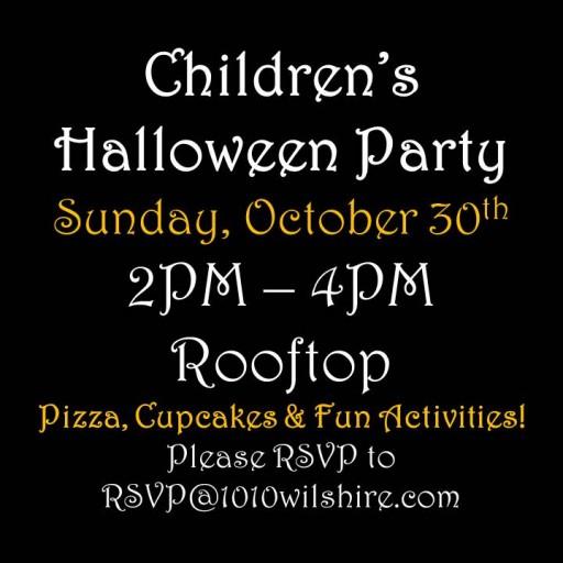 Happy Haunting: TENTEN Wilshire Kids Halloween Party