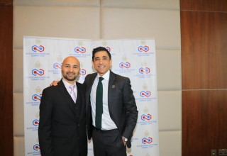 University of Bahrain Head of Strategy Cameron Mirza and Learning Machine SVP Global Services Kausar Samli
