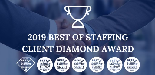 Sparks Group Wins ClearlyRated's 2019 Best of Staffing Client Diamond Award