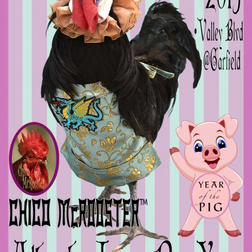 Chico McRooster to Be at 2019 Alhambra Lunar New Year Street Fair