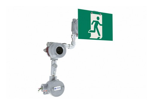 Larson Electronics Releases Explosion Proof LED Exit Sign, Emergency Battery Backup, 3-Hour Runtime
