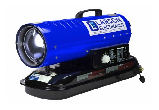 Larson Electronics Releases 120V Industrial Forced Air Heater, 240 CFM, 80,000 BTUs, 5-Gal Tank