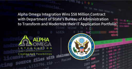 Alpha Omega Integration Wins $58 Million Contract With Department of State's Bureau of Administration to Transform and Modernize Their IT Application Portfolio