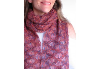 Autumn Leaves Tricolor Lace Scarf