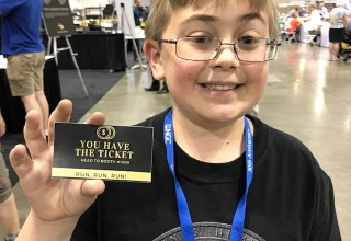 Kevin is the first recipient of a golden ticket. He's eleven-and-a-half and has been collecting coins since he was 5 years old!