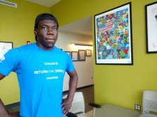 Roxbury resident Tryshten Suazo is employed as a youth leader at Whittier Street Health Center's Summer Enrichment Program
