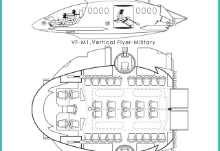 Corporation of Flight, Inc. VF-M1, vertical flyer-military -1a