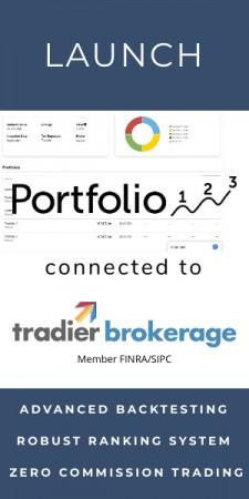 Portfolio123 connects to the Tradier API