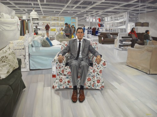"Portraits Painted From the Nation's Largest IKEA: ""Swedish Landscapes"" by Artist Rikki Niehaus"