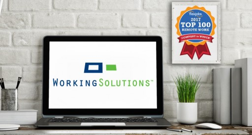 Working Solutions Places Among FlexJobs Top 10 Companies with Remote Jobs