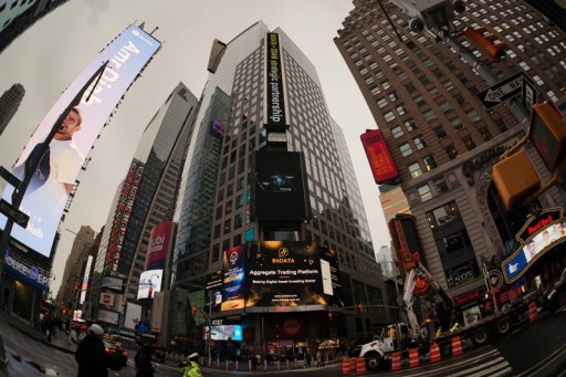 BitDATA and DDAM Jointly Display Chinese Business Card on the Large Screen of Times Square