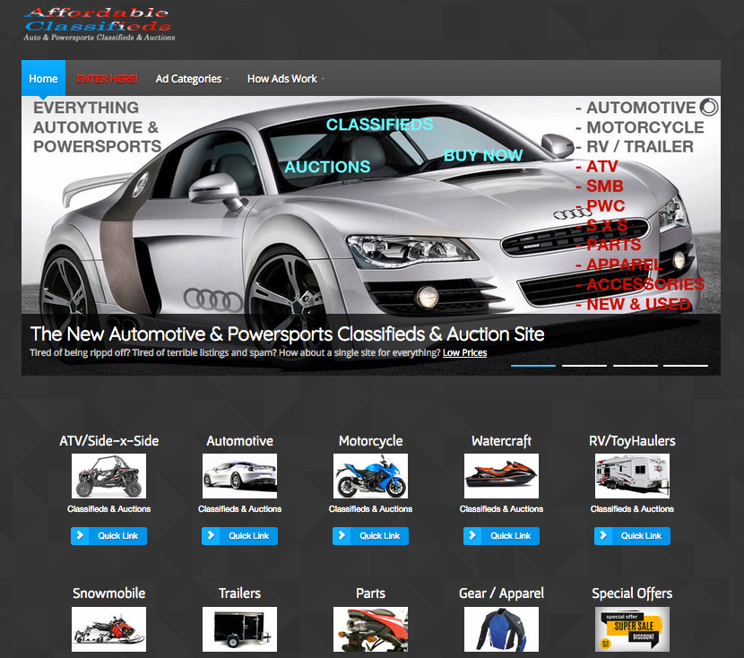 New Classifieds and Auction Website AffordableClassifieds