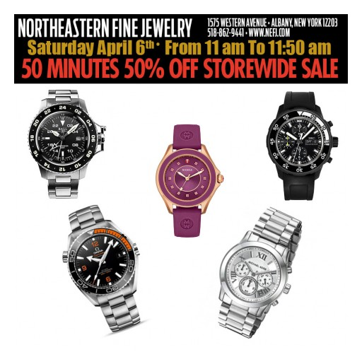 Northeastern Fine Jewelry Announces 50% Off 50 Minute Storewide Sale on Fine Jewelry and Luxury Watches