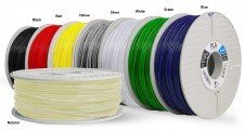 PLA 3D printing filaments for Fused Filament Fabrication 3D printers are one application of PLA (image courtesy of Airwolf3D).
