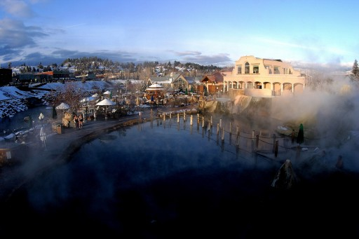 The Springs Resort and Spa - winter, Pagosa Springs
