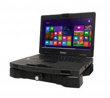 Image of Getac S410 in Gamber-Johnson docking station