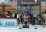 UK's top jive and swing band—Britain's Got Talent semifinalists the Jive Aces—set the mood at the drug prevention street event with their hot jive music.