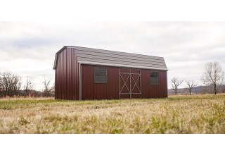 Metal Barn-Style Shed