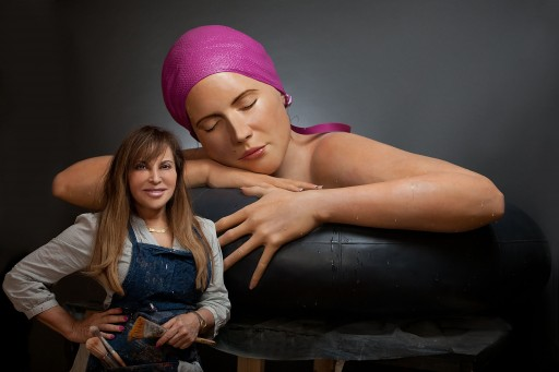 Carole A. Feuerman World Renowned Hyper-Realist Sculptor at Art Basel, Miami