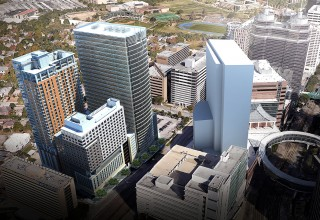 Aerial View of Medistar's New Medical Tower at Texas Medical Center