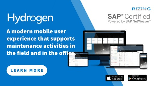 Rizing Hydrogen Mobile User Experience Achieves SAP Certification as  Powered by SAP NetWeaver® and Integrated With SAP S/4HANA®