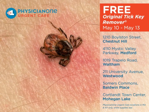 Free Tick Removers in Massachusetts and Westchester County, New York, This Weekend