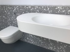 CoveringsETC Venetian Terrazzo Torcello Grey G Product