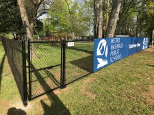 Playground Fence Installation with Logo Screen - 2017 Good Friday Service Project