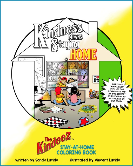 Butterfly Fish Productions Releases a Free Stay-at-Home Digital Coloring Book to Thank Front-Line Workers and to Launch the Kindeez Children's Book Series That Promotes Kindness