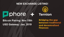 Phore to List on High-Security Ternion Exchange