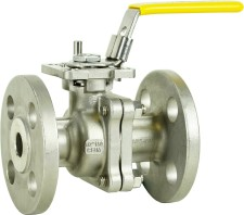 """Stainless Steel 1/2"""" Flanged Ball Valve"""