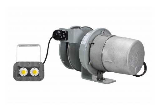 Larson Electronics Releases 40W Explosion Proof AC LED Light Fixture, 50' Cord Reel, ATEX/IECEx