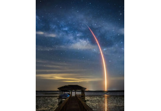Space X Launch from Dock at 1865 Pine Grove Road