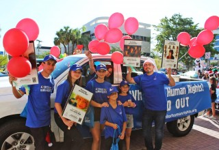 The Miami chapter of Youth for Human Rights at a human rights awareness event marking International Human Rights Day