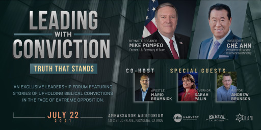 Ché Ahn Presents 'Leading With Conviction' an Event With Mike Pompeo to Promote Strength in Biblical Values Against All Odds
