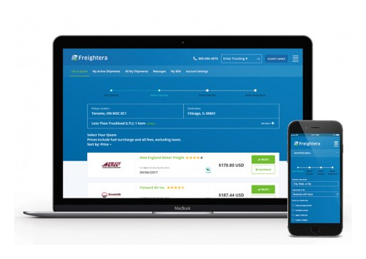 Freightera's New Redesign Takes Instant Online Freight Quotes to the Next Level