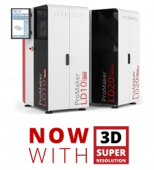 Prodways ProMaker LD Series 3D Printers with Super-Resolution