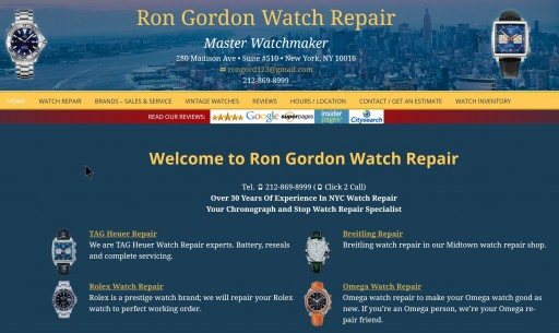 Ron Gordon Watch Repair Announces New Post on OMEGA Watch Repair in New York City