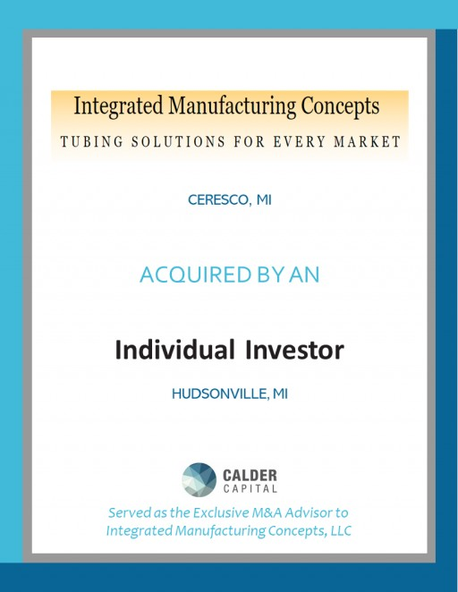 Tube Bender Integrated Manufacturing Concepts Acquired by Investor