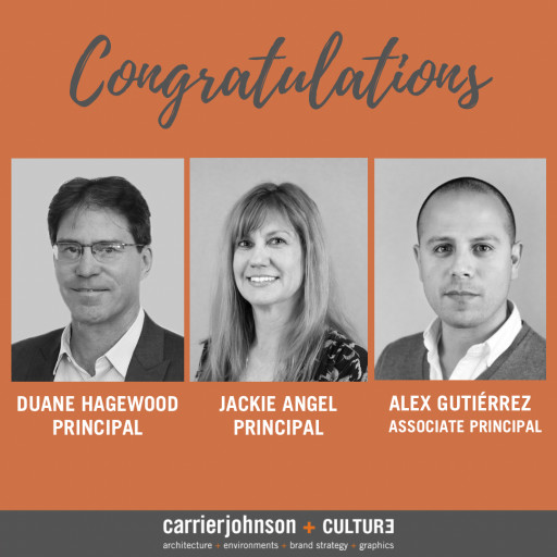Carrier Johnson + CULTURE Promotes 3 Talented Individuals